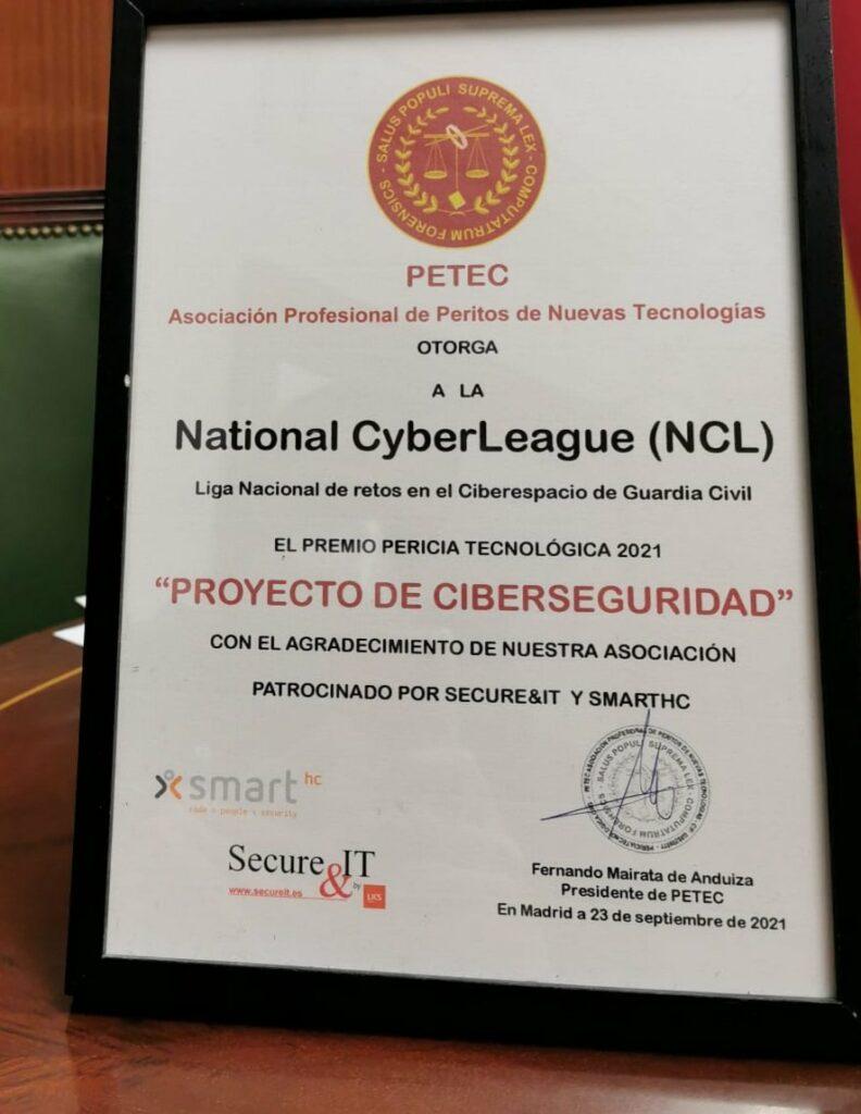 Diploma premiso PETEC Proyecto de Ciberseguridad